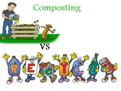 400x300 Composting Vs Recycling Drawing A Line To Differentiate Between