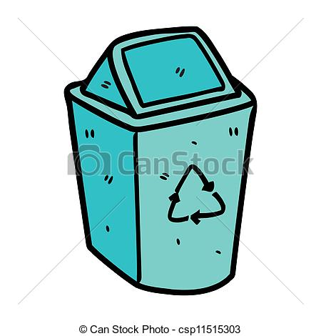 450x470 Trash Bin Doodle Vector Clipart