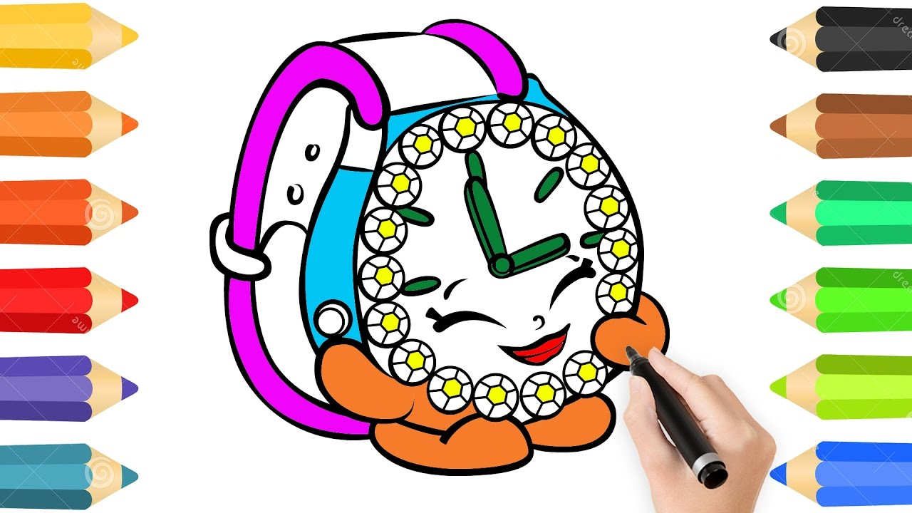 1280x720 Coloring Pages Cute Watch Amp Drawing For Children How To Color By