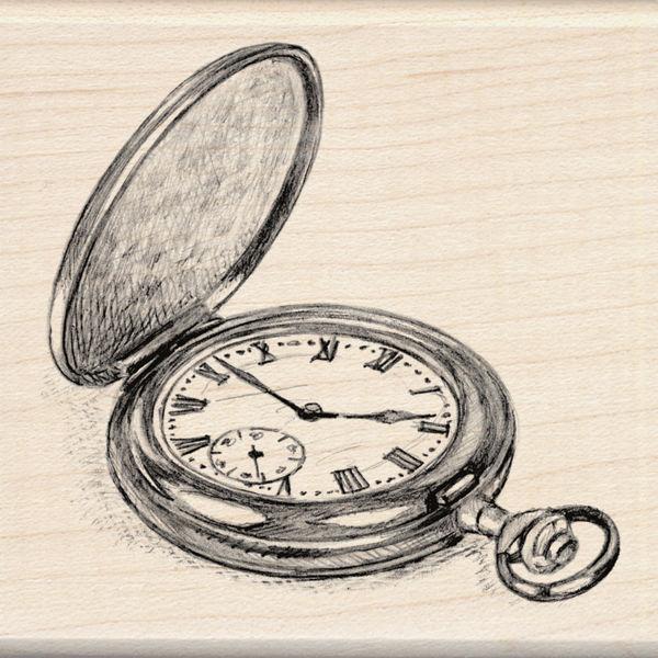 600x600 Inkadinkado Rubber Stamps Sketch Pocket Watch Stamp Ebay