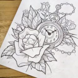 250x250 Watch Drawing, Pencil, Sketch, Colorful, Realistic Art Images