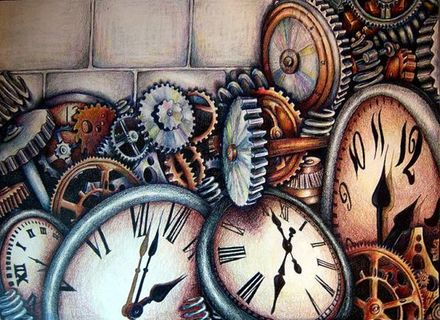 440x320 28 Gear Wall Art With Clock, Harper Blvd Clock And Gears Wall Art