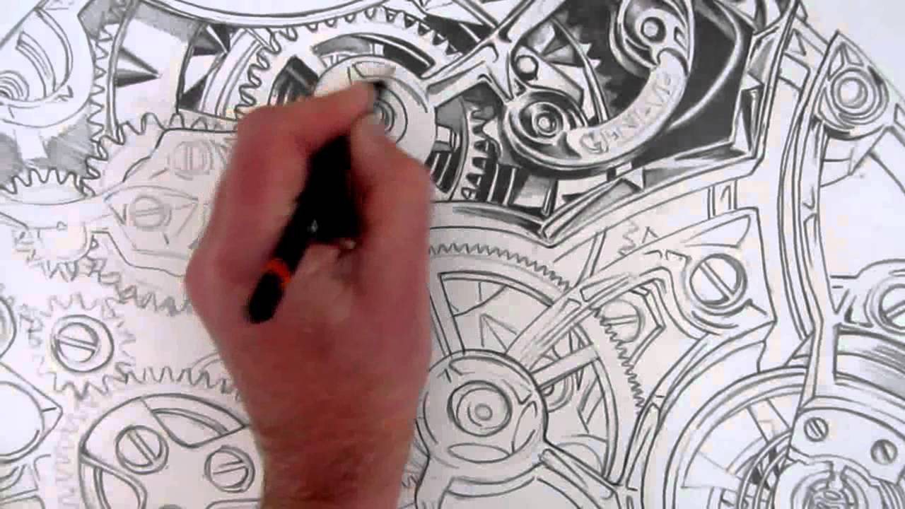 1280x720 How To Draw Realistic Detail Inside A Watch