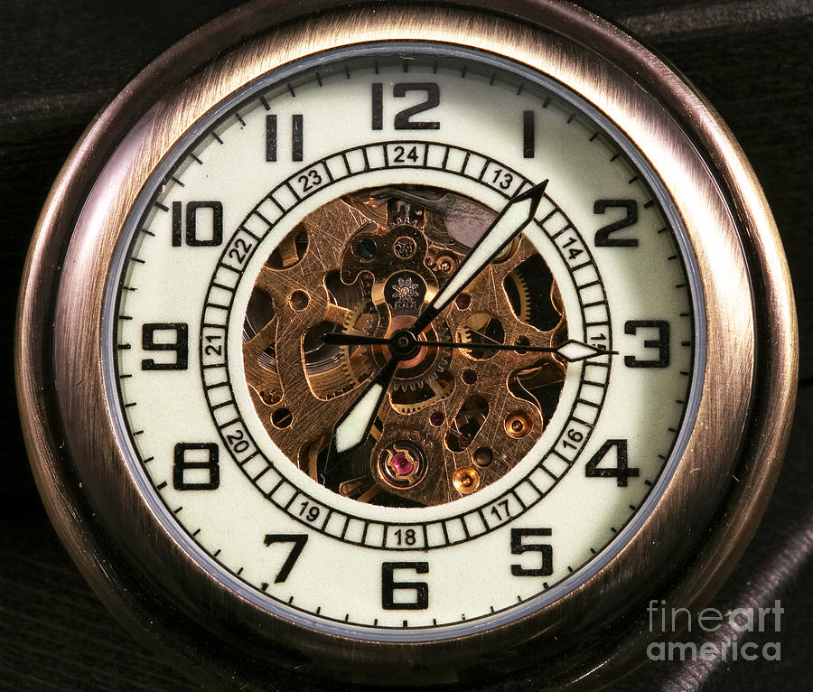 900x766 Pocket Watch Photograph By John Rizzuto