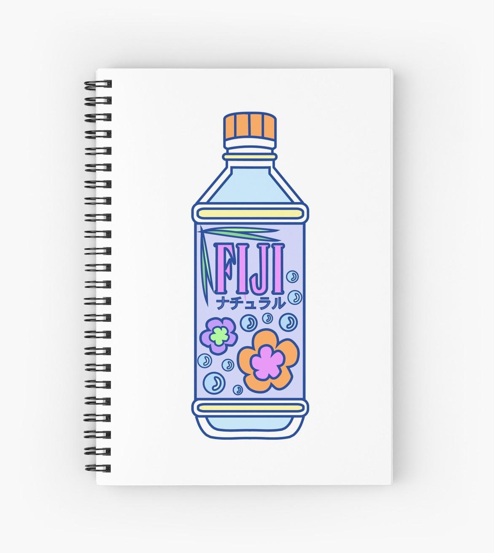 1171x1313 Aesthetic Fiji Water Bottle! Spiral Notebooks By Pennysoda