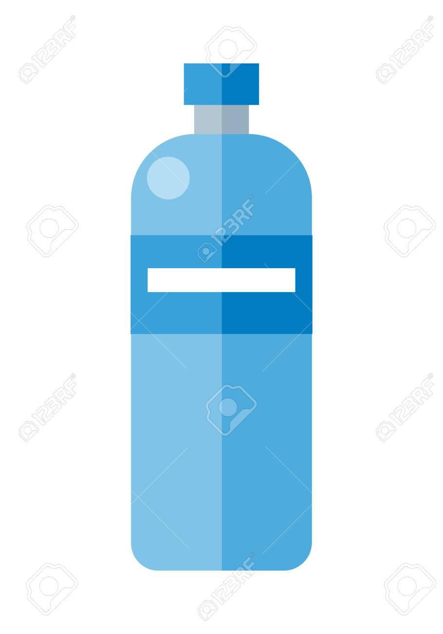 910x1300 Blue Plastic Bottle. Illustration Of Bottle Of Mineral Water