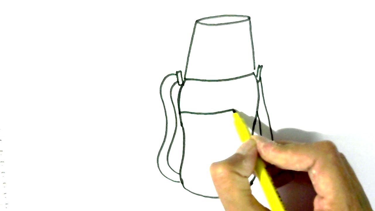 1280x720 How To Draw Water Bottle In Easy Steps For Children. Beginners