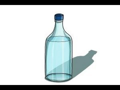 480x360 How To Draw A Water Bottle