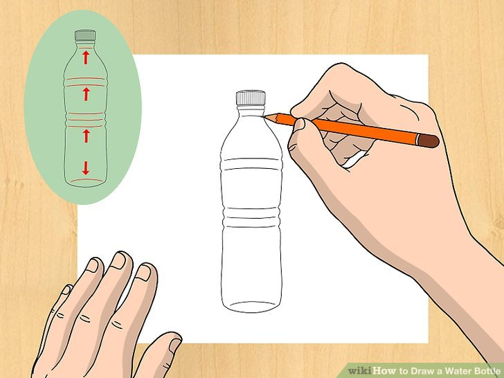728x546 How To Draw A Water Bottle 11 Steps (With Pictures)
