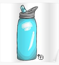 210x230 Water Bottle Drawing Posters Redbubble
