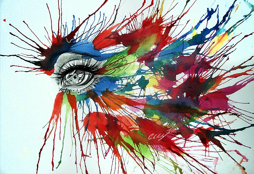 864x594 Digital Watercolor Drawing Of Eyes 1 Digitalart.io