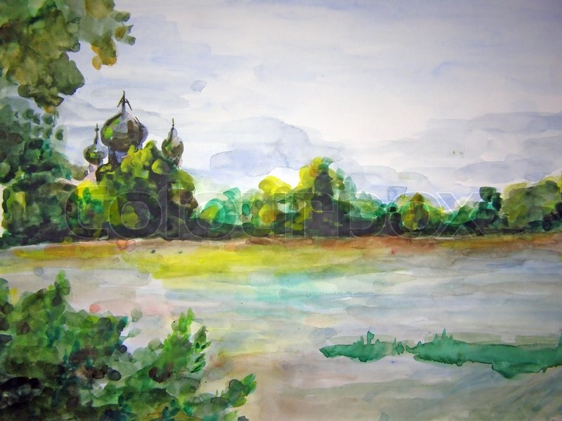 800x600 Watercolor Drawing Stock Photo Colourbox