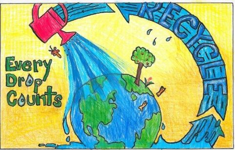 Save Water Drawing For Kids Competition