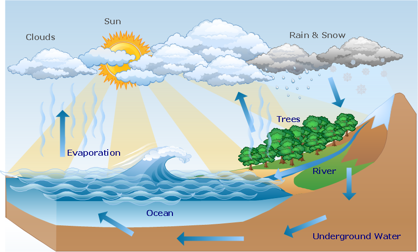 Water cycle drawing at getdrawings free for personal use water 846x510 water cycle diagram drawing illustration ccuart Choice Image