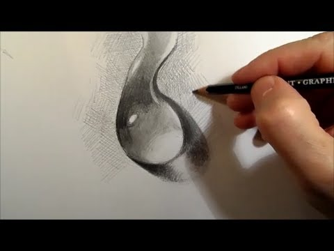 480x360 Drawing A Water Drop, Time Lapse