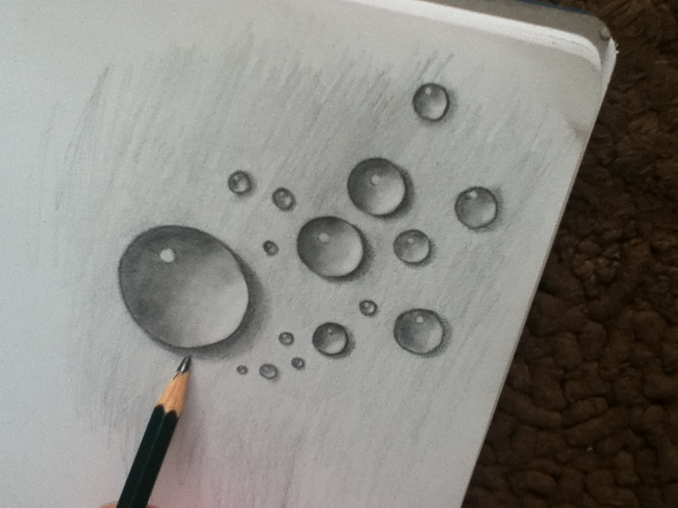 960x720 Water Droplet Drawing, I'Ve Done These Before And They'Re Actually
