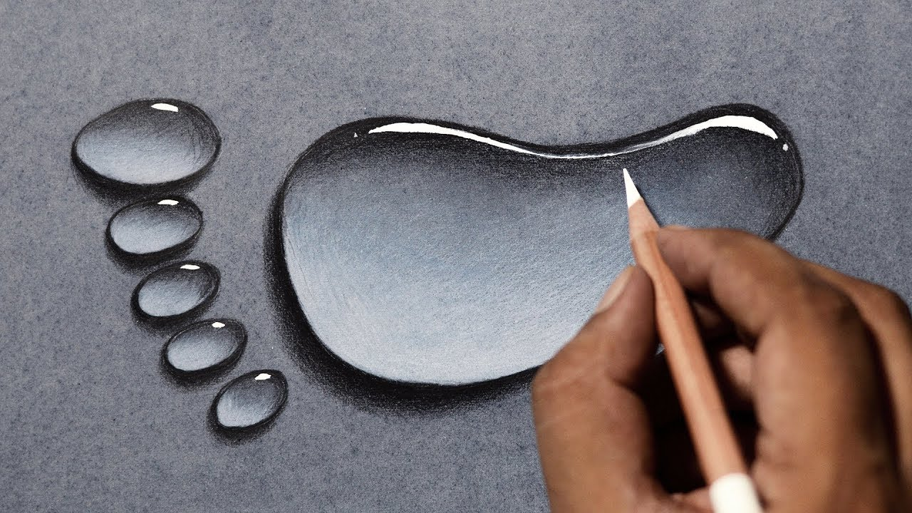 1280x720 Draw Water Drops In 3 Easy Steps! Water Drop Drawing Tutorial