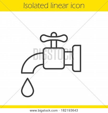 450x470 Water Faucet Linear Icon. Tap Thin Vector Amp Photo Bigstock