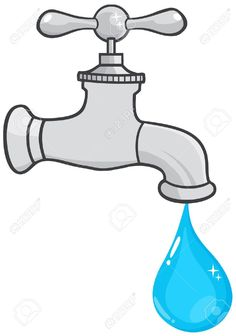 236x336 Water Faucet With Smiling Water Drop Cartoon Character Vector