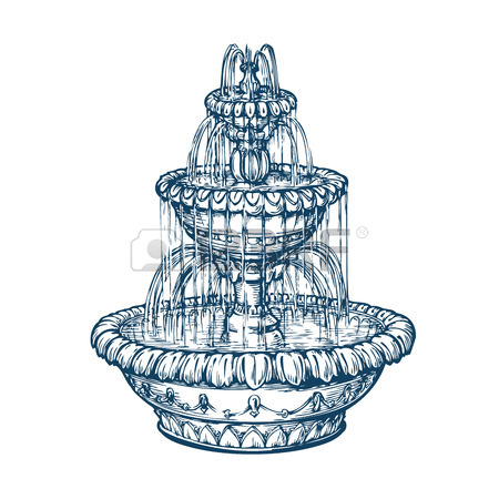 450x450 3,502 Water Fountain Stock Illustrations, Cliparts And Royalty