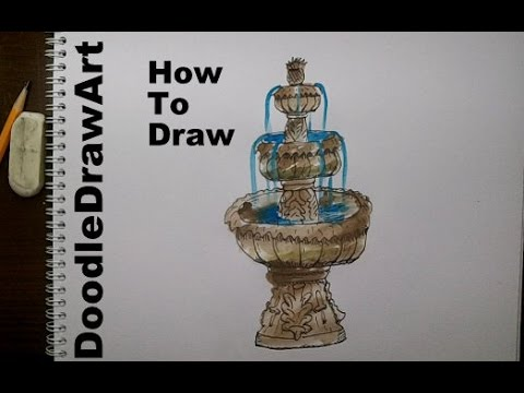 480x360 Drawing How To Draw A Fountain