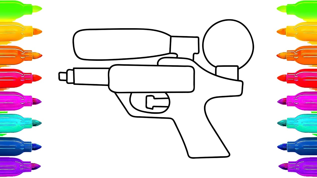 Water Gun Drawing At GetDrawings.com | Free For Personal Use Water Gun Drawing Of Your Choice