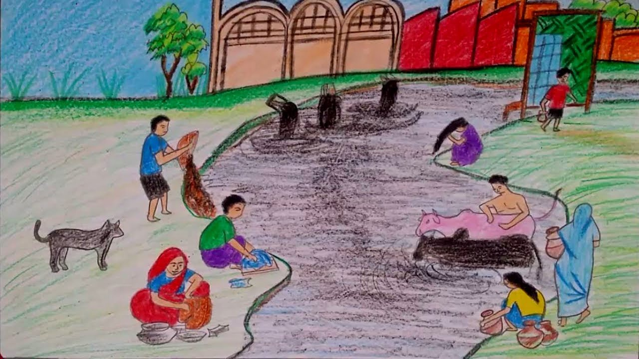 Water Pollution Drawing At GetDrawings.com | Free For Personal Use Water Pollution Drawing Of ...