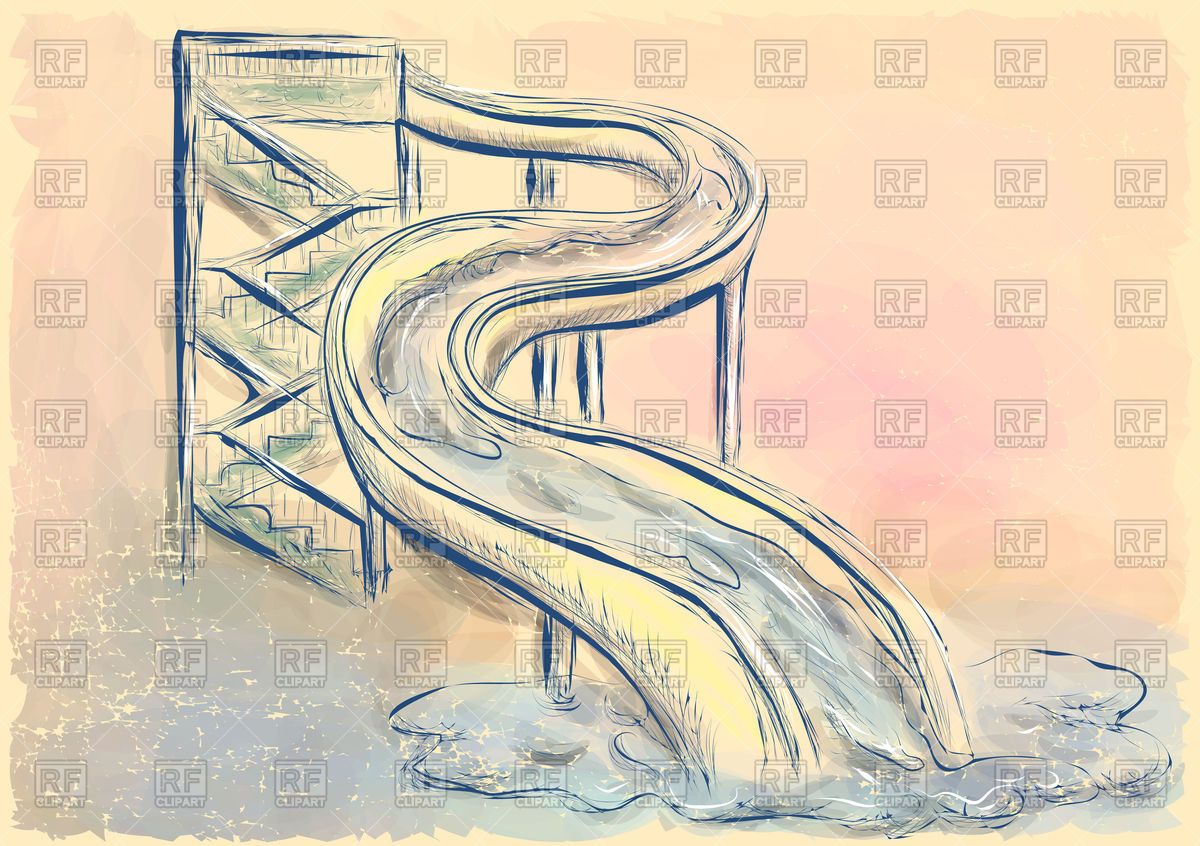 Water Slide Drawing At Getdrawings