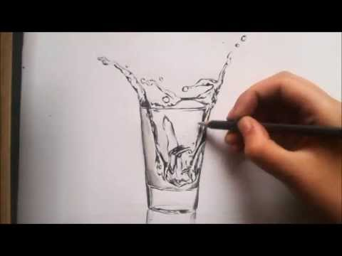 480x360 Splashing Water Speed Drawing