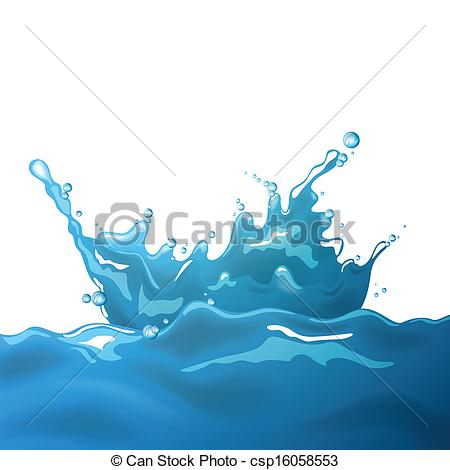 450x470 Vector Water Splash. Vector Illustration Of A Water Splash Clipart