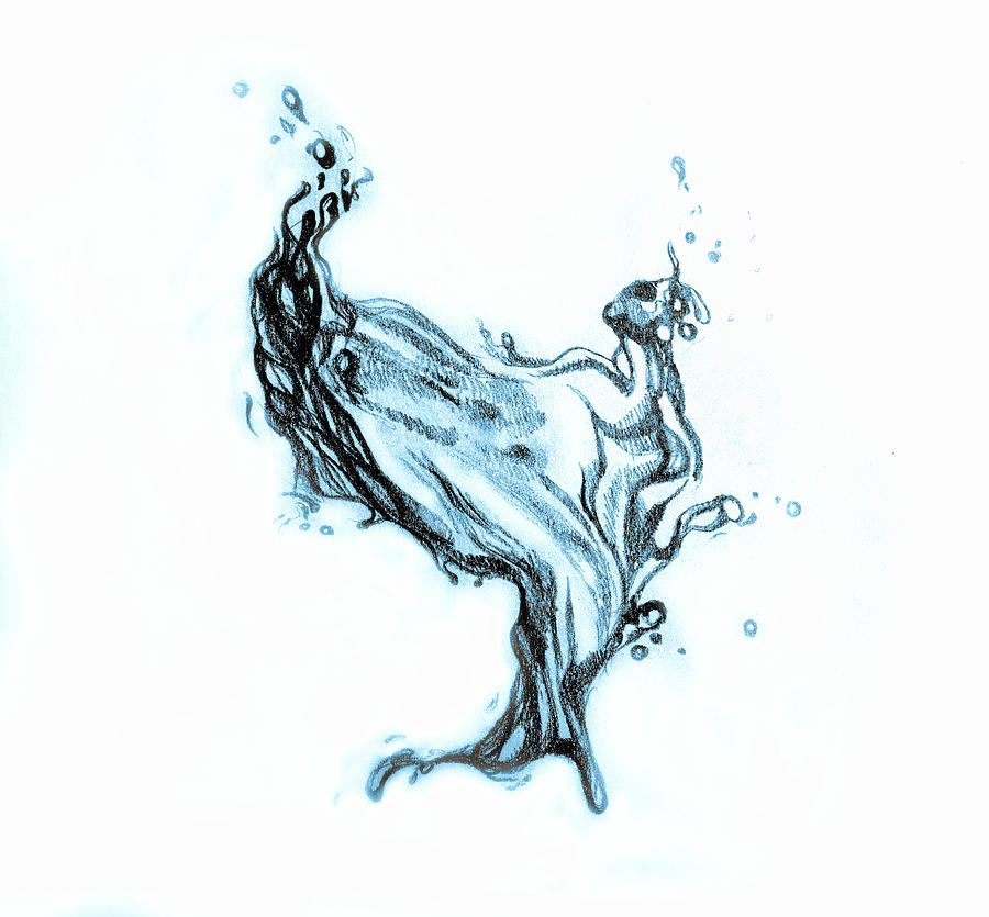 900x835 Water Splash Drawing Drawing By Oana Unciuleanu