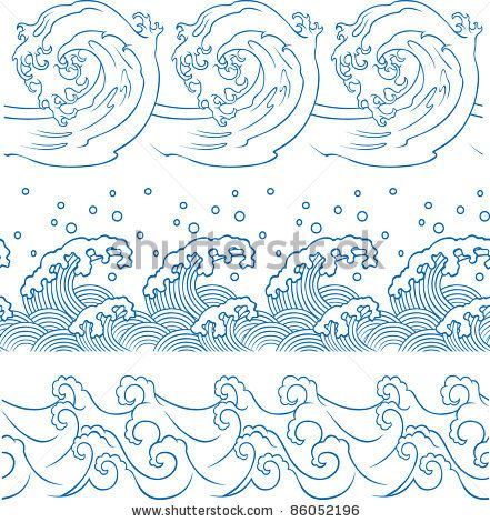 how to draw water waves