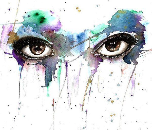 600x514 30 Expressive Drawings Of Eyes Watercolor Eyes, Watercolor