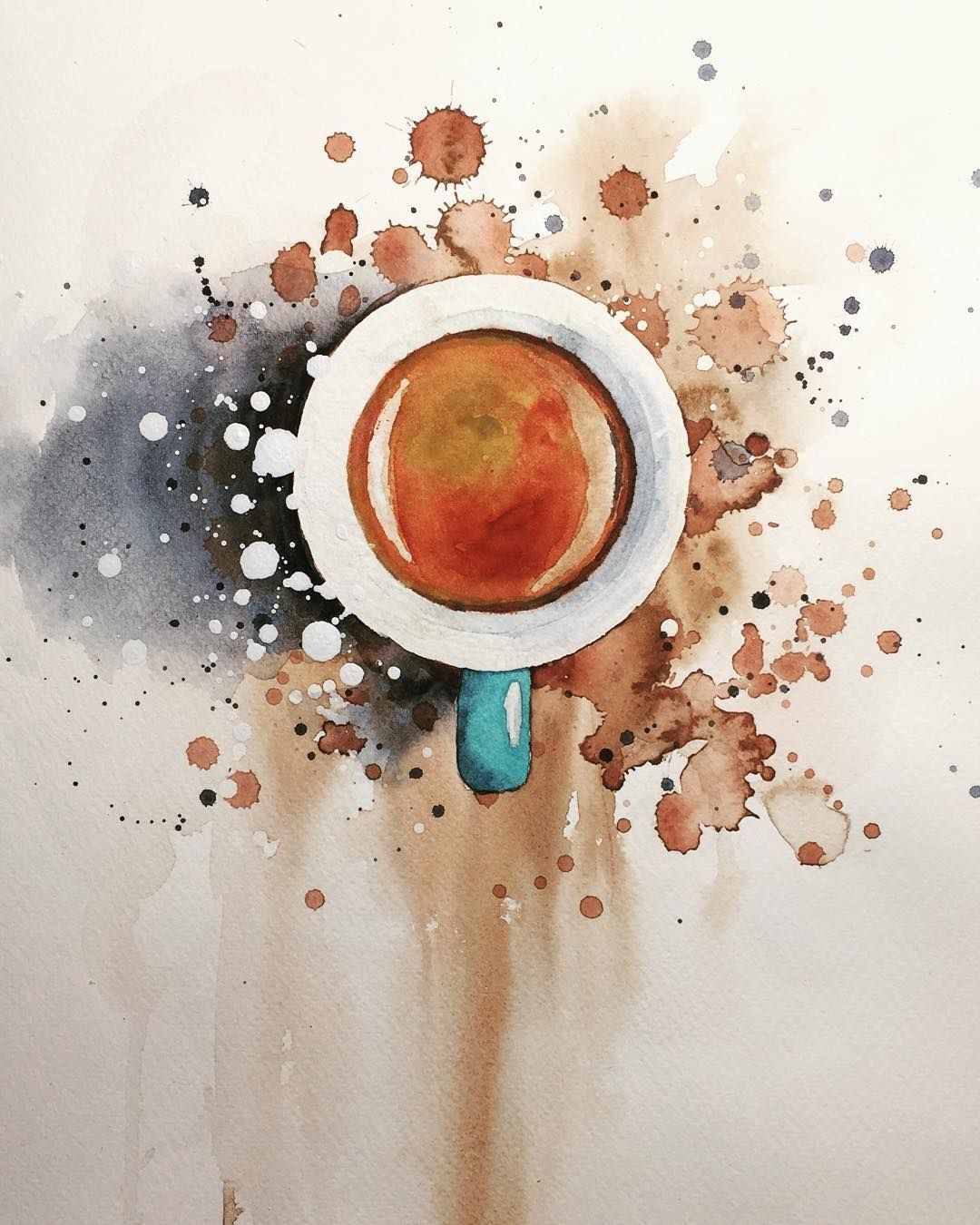 1080x1350 Watercolor Espresso, Coffee, Watercolour, Painting By Jiri Zraly