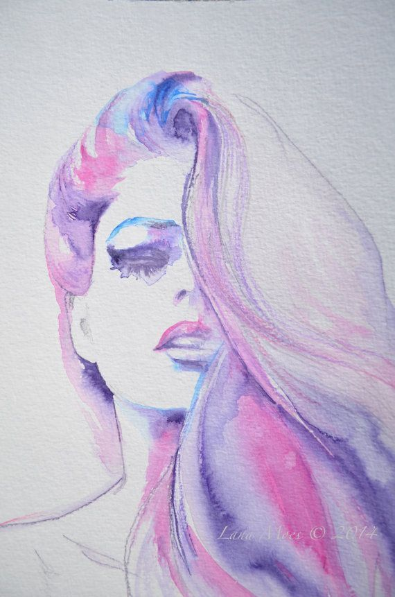 570x861 Watercolors Watercolor, Woman And Draw
