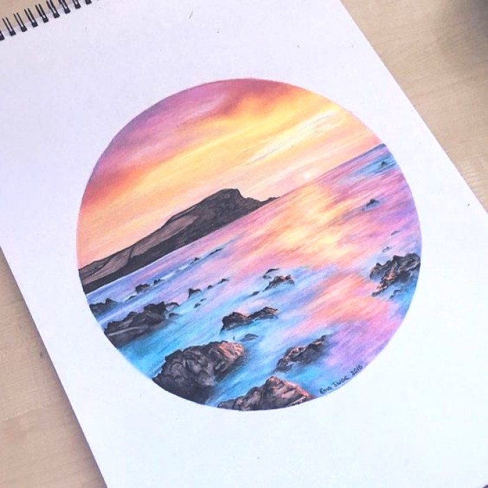 700x700 watercolor pencil drawing ideas