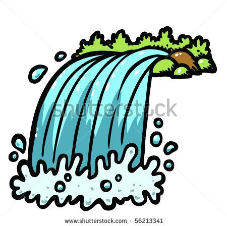 450x448 Cartoon Waterfall Clipart
