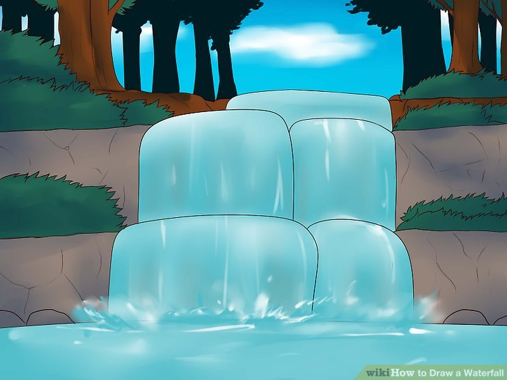 728x546 How To Draw A Waterfall (With Pictures)