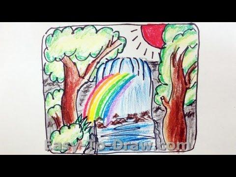 480x360 How To Draw A Cartoon Waterfalls