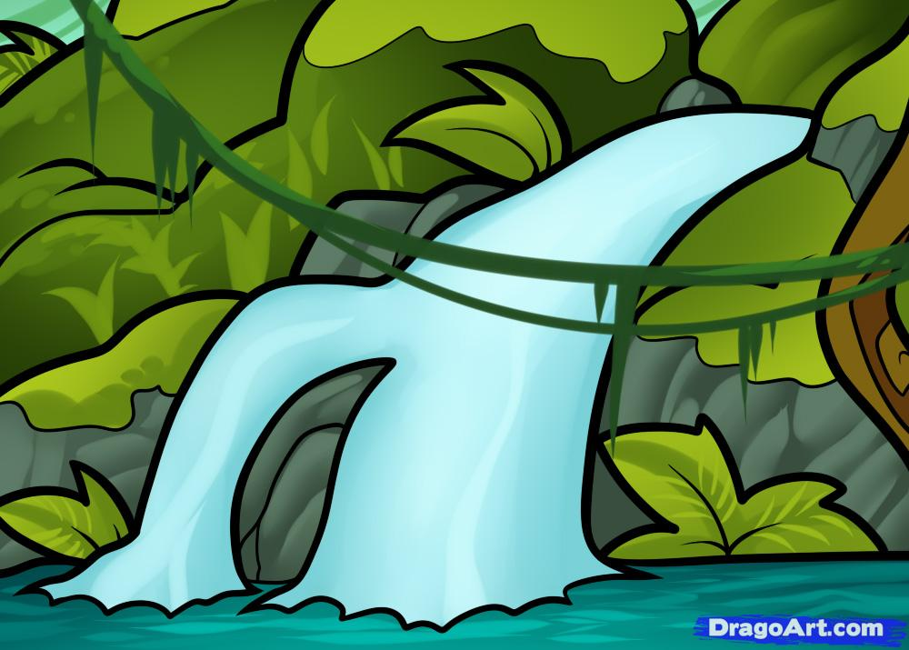 1000x715 How To Draw A Waterfall For Kids Drawing Amp Art!