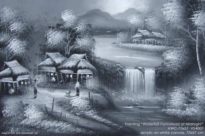 800x533 pencil sketches of waterfalls
