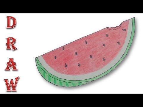 480x360 How To Draw A Watermelon Slice