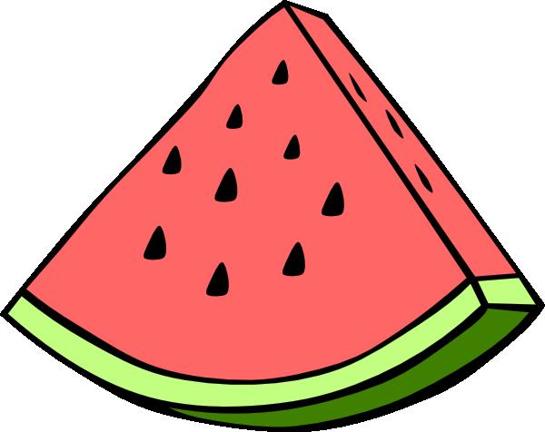 600x476 Watermelon Wedge Clip Art