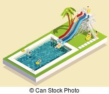 225x194 Waterslide Isolated On White Background Drawing