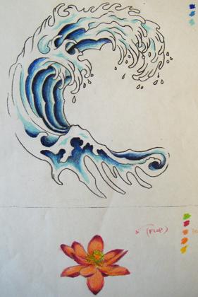 Wave Tattoo Drawing at GetDrawings | Free downloadWaves Drawing Tattoo