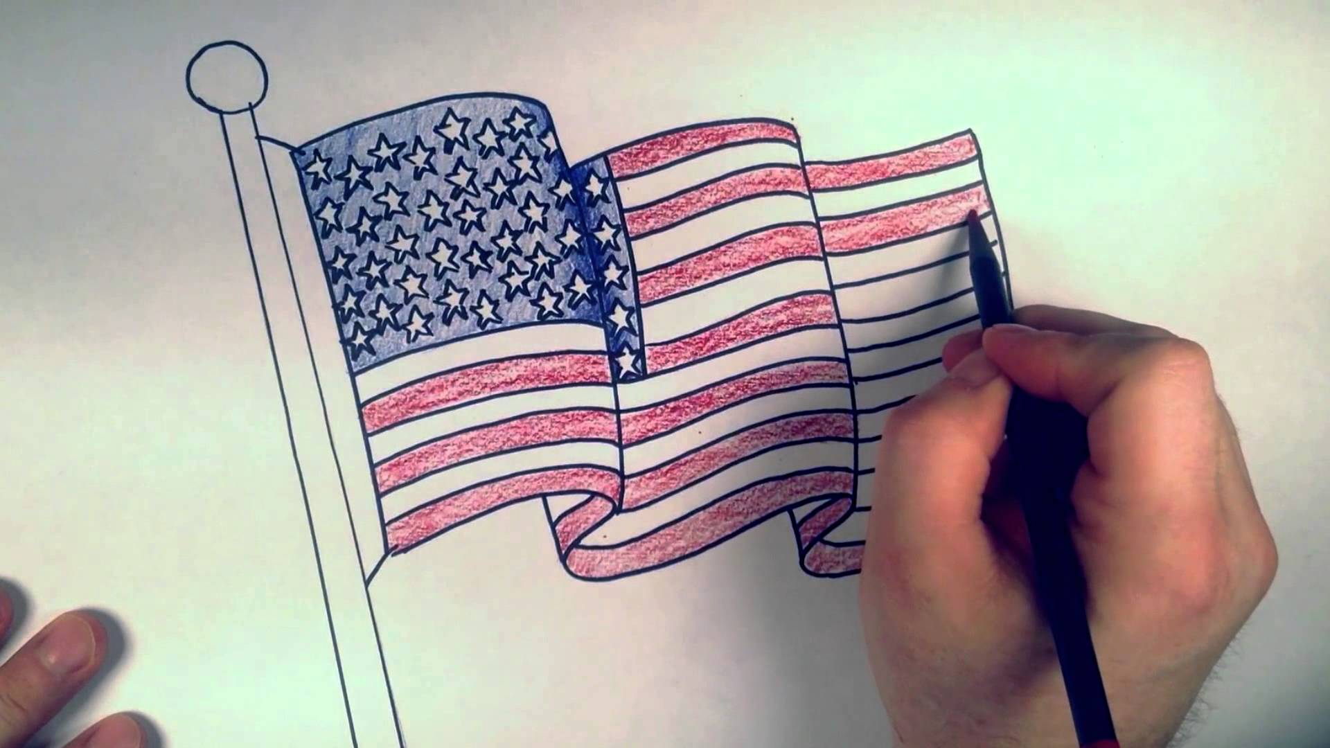1920x1080 How To Draw An American Flag Coloring Lesson Rbh