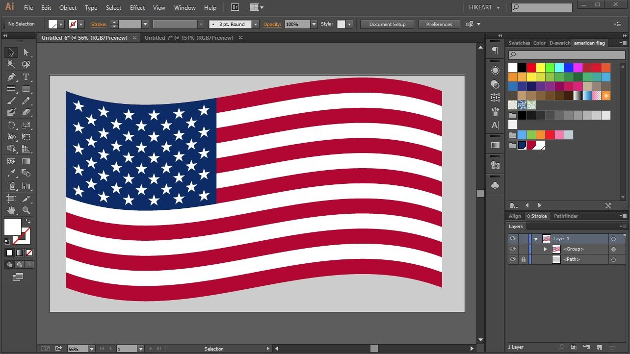 1284x722 How To Draw The American Flag In Adobe Illustrator