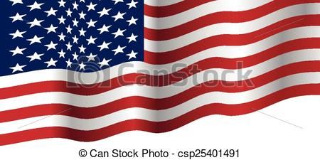 450x225 Usa Flag Waving Vector. Usa Flag Waving Eps Vectors