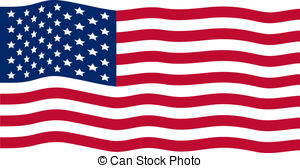 300x168 Waving American Flag Vector Clipart Illustrations. April 2018