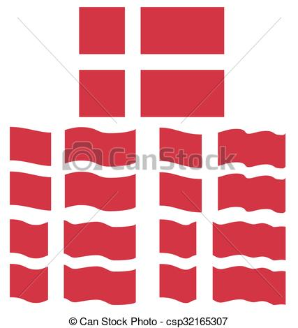 427x470 Flat And Waving Flag Of Denmark Vector Clipart